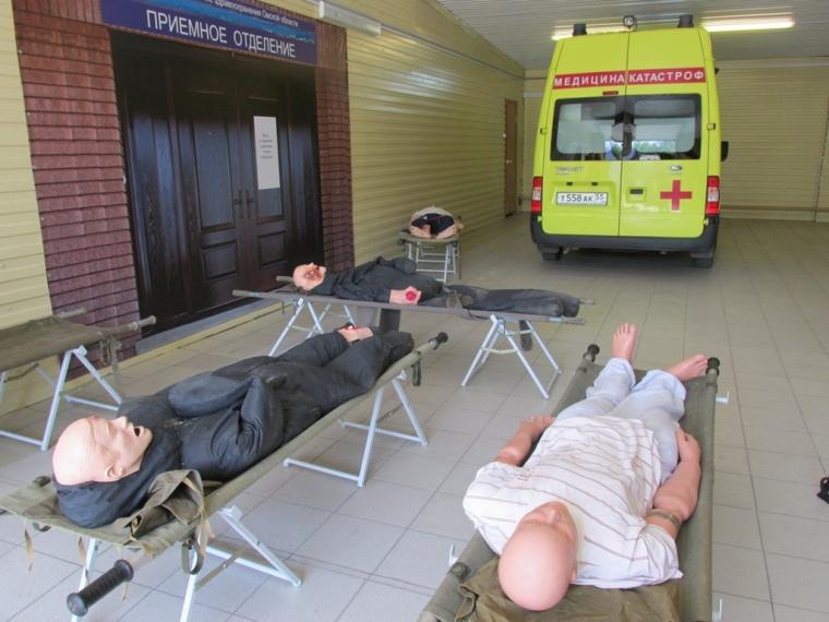 Омский центр медицины катастроф пополнился «искалеченными»