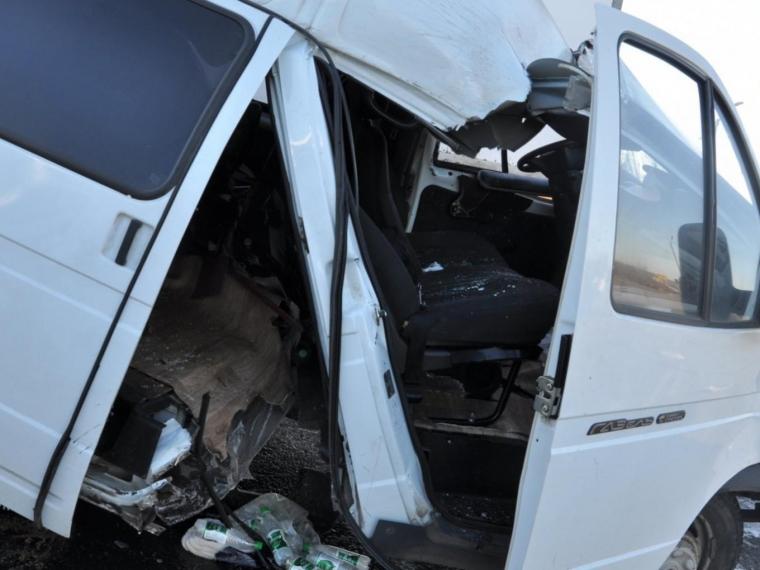 Под Омском нетрезвый шофёр врезался впассажирский микроавтобус