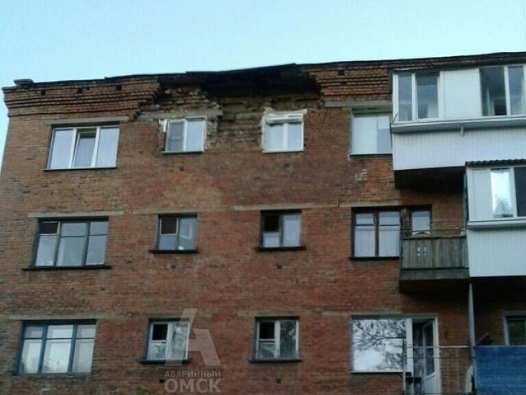 Жителям омской пятиэтажки наремонт стены выделят 4 млн руб.