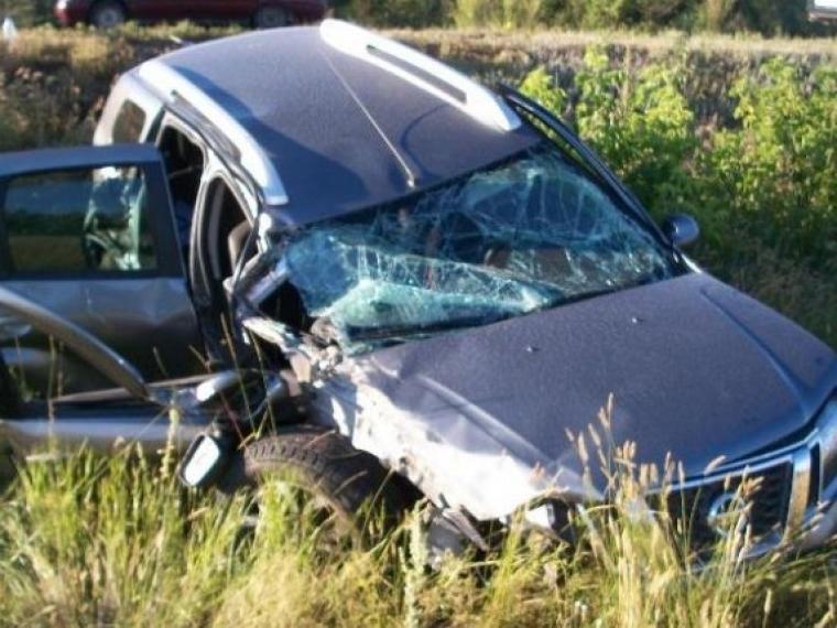 ВОмской области «Ниссан» опрокинулся вкювет— пострадали 4 человека