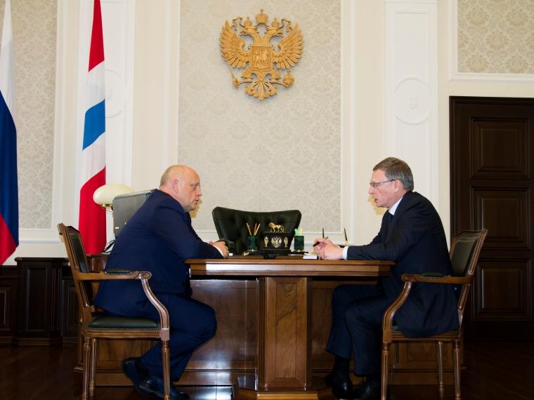 Назаров обсудил сновым губернатором Омской области Бурковым поручения В. Путина