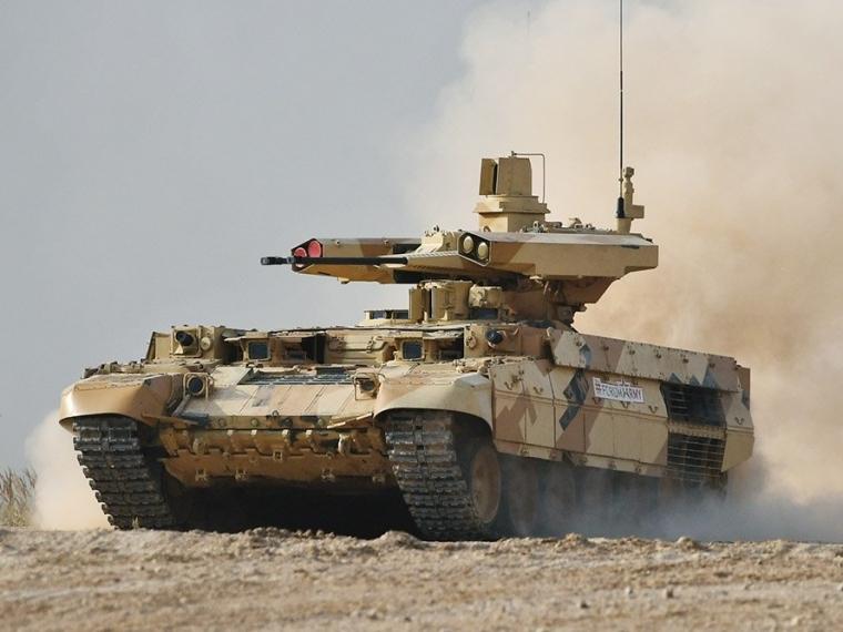 Русская армия пополнится боевой машиной поддержки танков «Терминатор-2»
