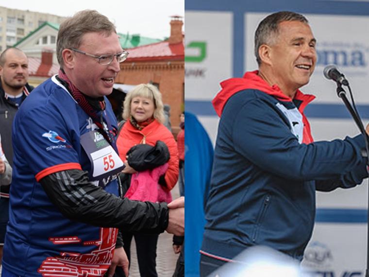 Александр Бурков и Рустам Минниханов стали самыми спортивными главами регионов