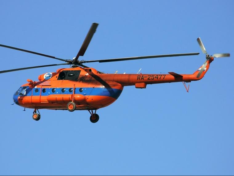 В Омской области совершил аварийную посадку вертолет Ми-8