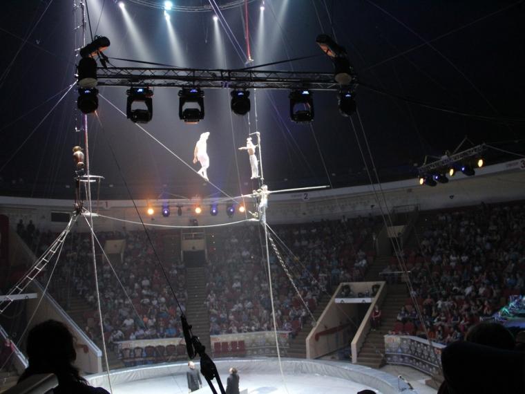 В Омском цирке выступление канатоходцев прошло в аварийных условиях