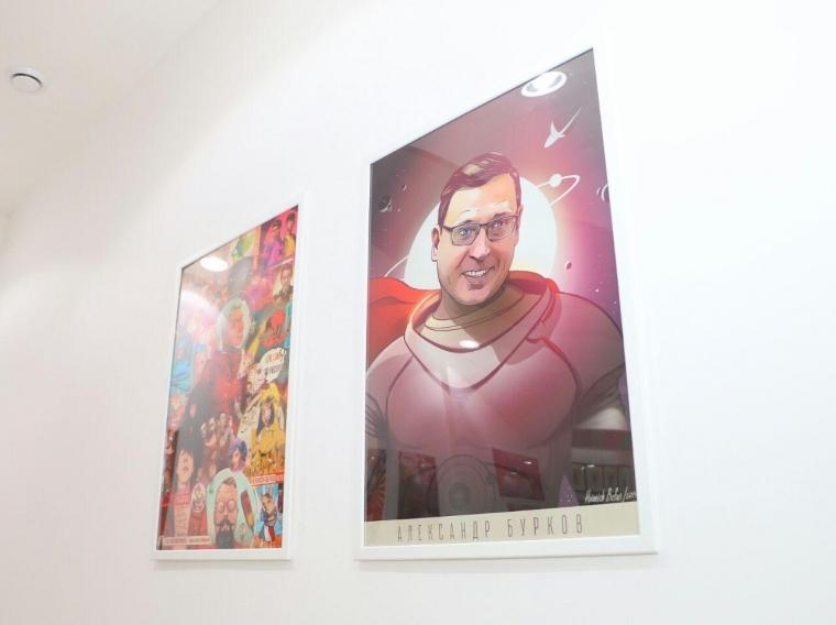 Художник Генрих Бефус сделал из Александра Буркова супергероя #Культура #Омск